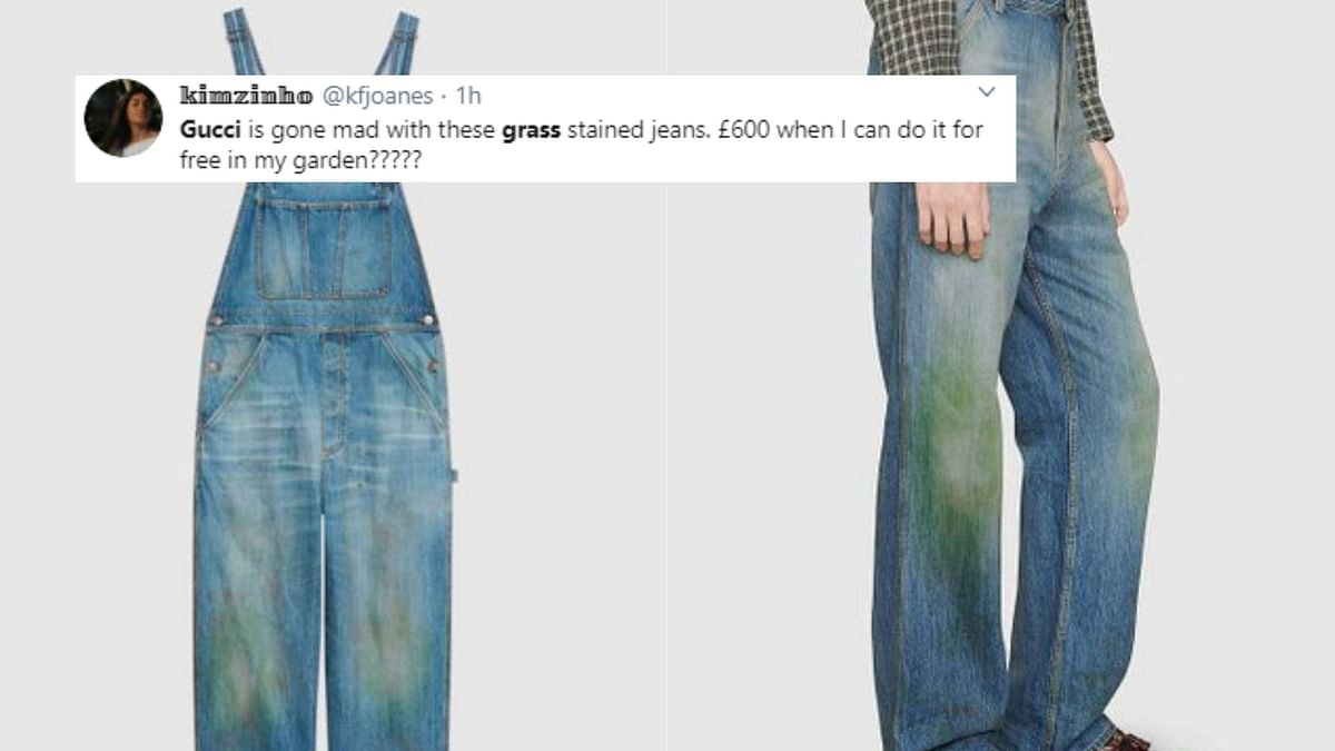 Gucci's 'Grass-Stained' Pants Cost Rs 88,000 & Twitter Is Shook