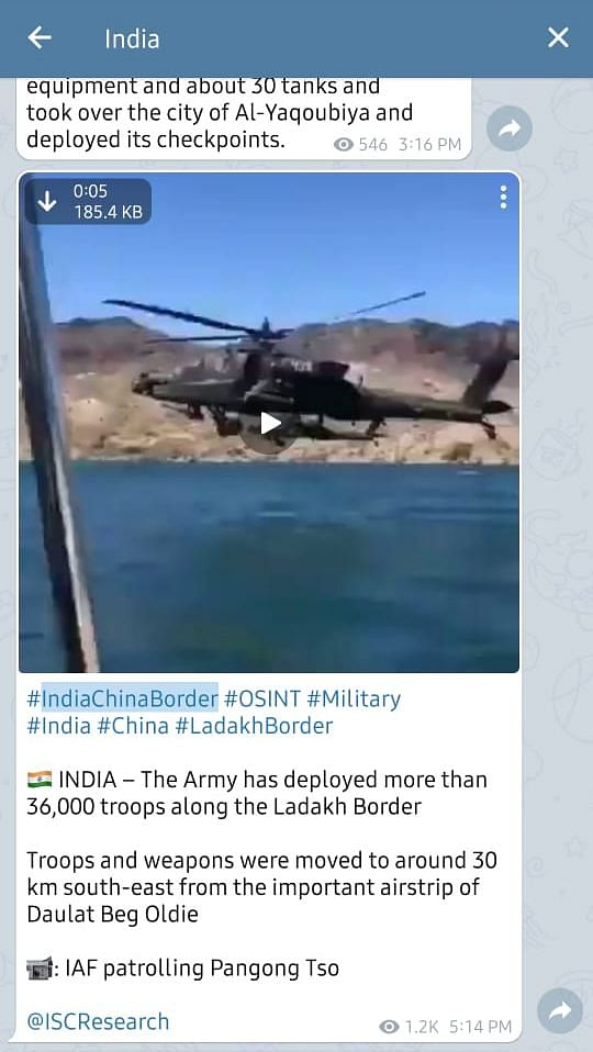 """You can read our fact-check <a href=""""https://www.thequint.com/news/webqoof/apache-choppers-over-pangong-tso-video-is-from-arizona-usa-fact-check"""">here</a>."""