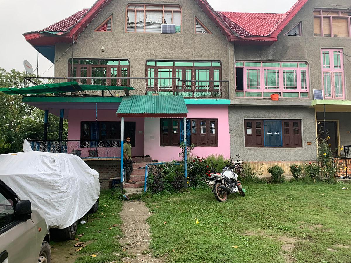 Tajamul Imran's house in Nazimpor, which is being frequented by neighbours and relatives since his arrest.