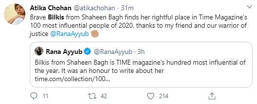 There's Hope, Says Twitter As TIME Mag Honours Shaheen Bagh Dadi