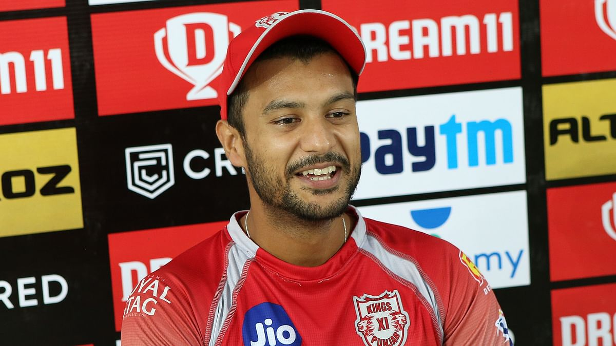 IPL 2020: Mayank Agarwal during a press conference after Kings XI Punjab vs Delhi Capitals.