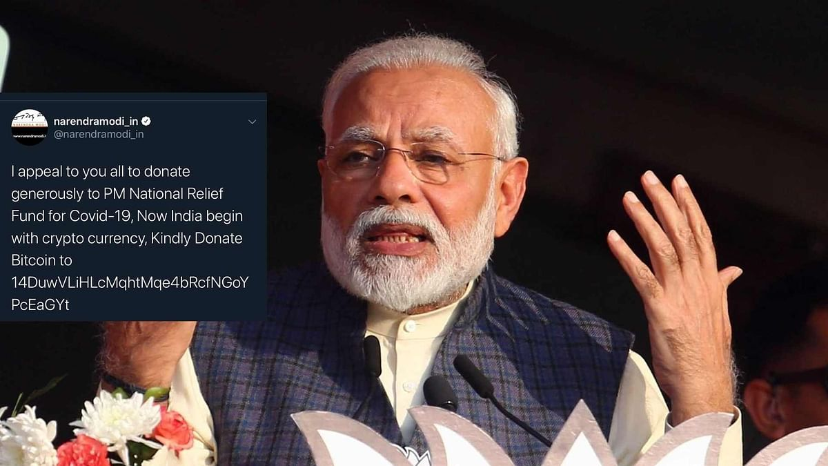 Twitter Account of PM Modi's Website Hacked With Posts on Bitcoin