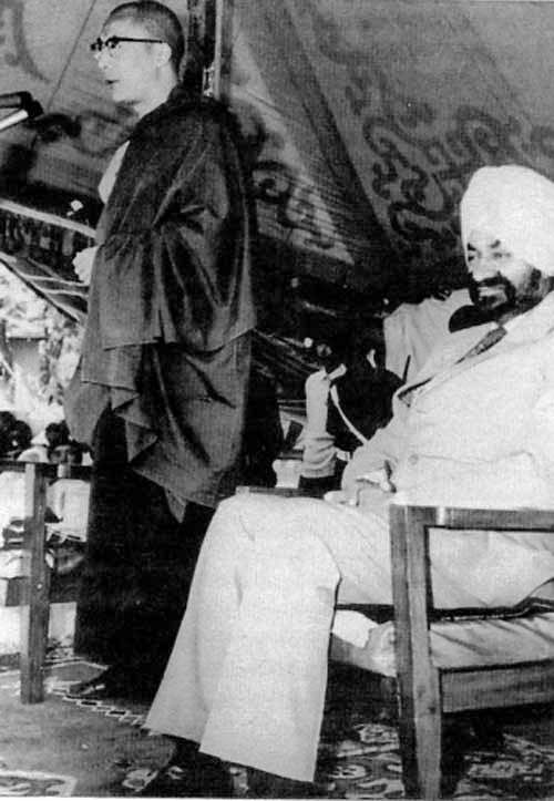 Major General Sujan Singh Uban with the Dalai Lama
