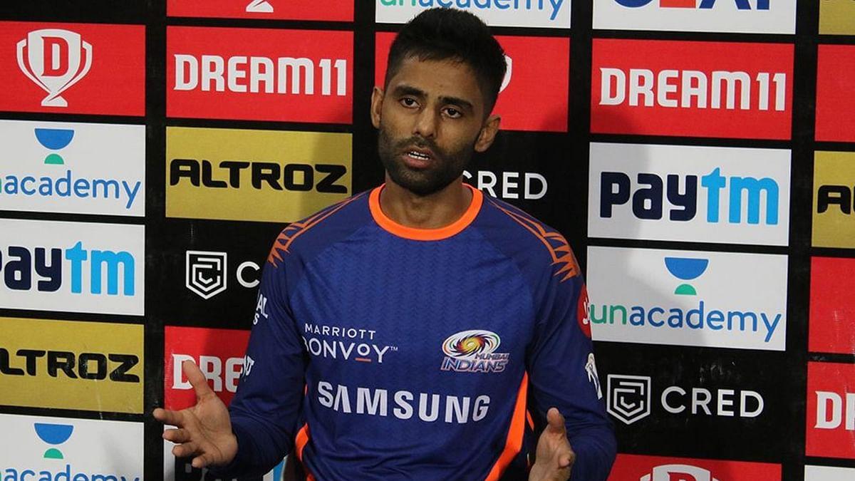 Suryakumar Yadav scored 47 runs off 28 balls while building a partnership with Rohit Sharma of 90 runs