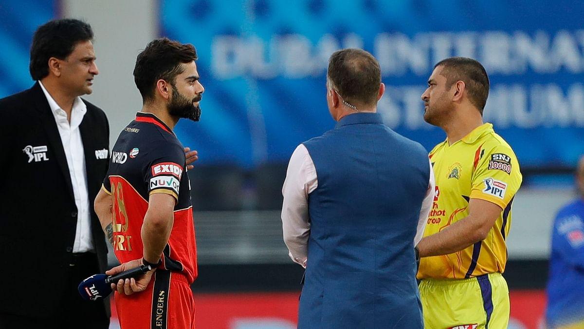 Royal Challengers Bangalore (RCB) won the toss and chose to bat against Chennai Super Kings (CSK) at the Dubai International Stadium.