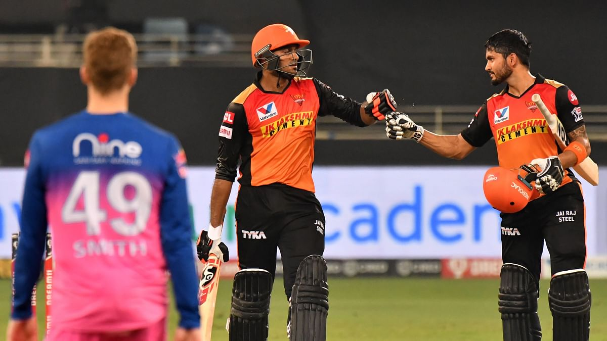 Sunrisers Hyderabad registered an 8-wicket win over Rajasthan Royals.