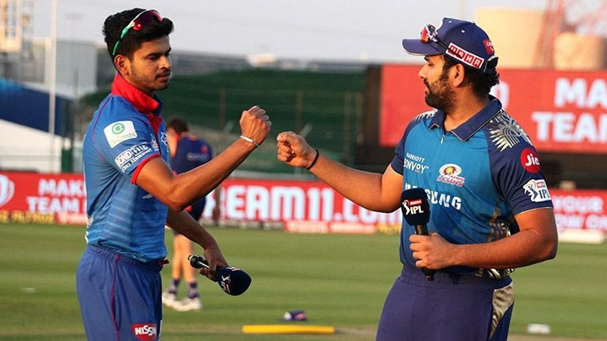 Shreyas Iyer and Rohit Sharma at the toss earlier in the season.