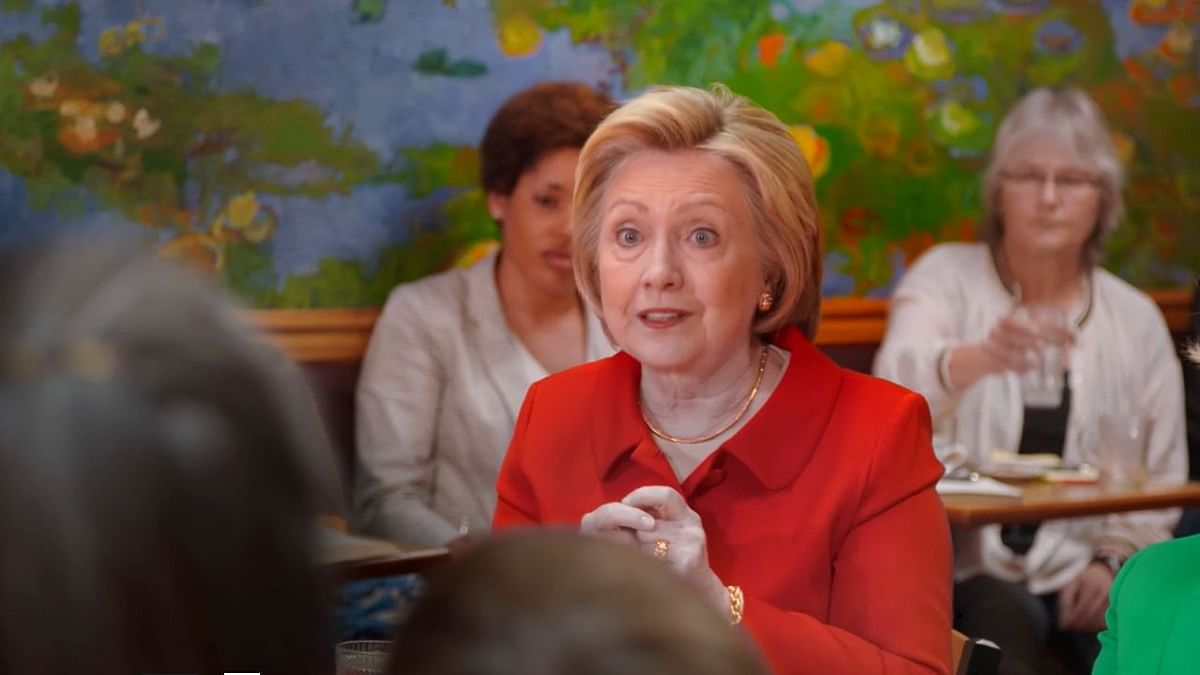 Hillary Clinton campaigning during the 2016 Presidential elections.