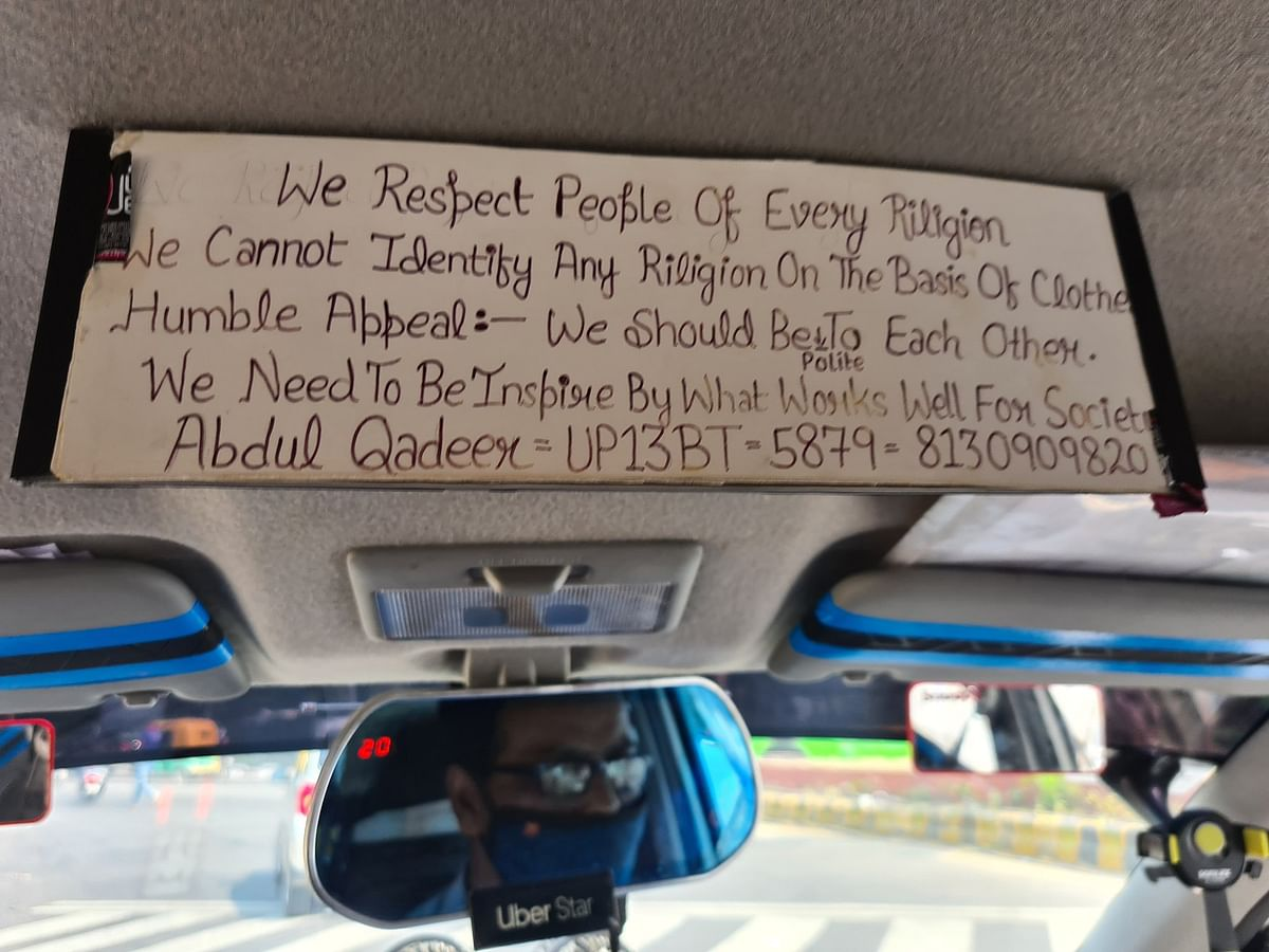 Respect All Religions: Message In Uber Driver's Cab Wins Internet