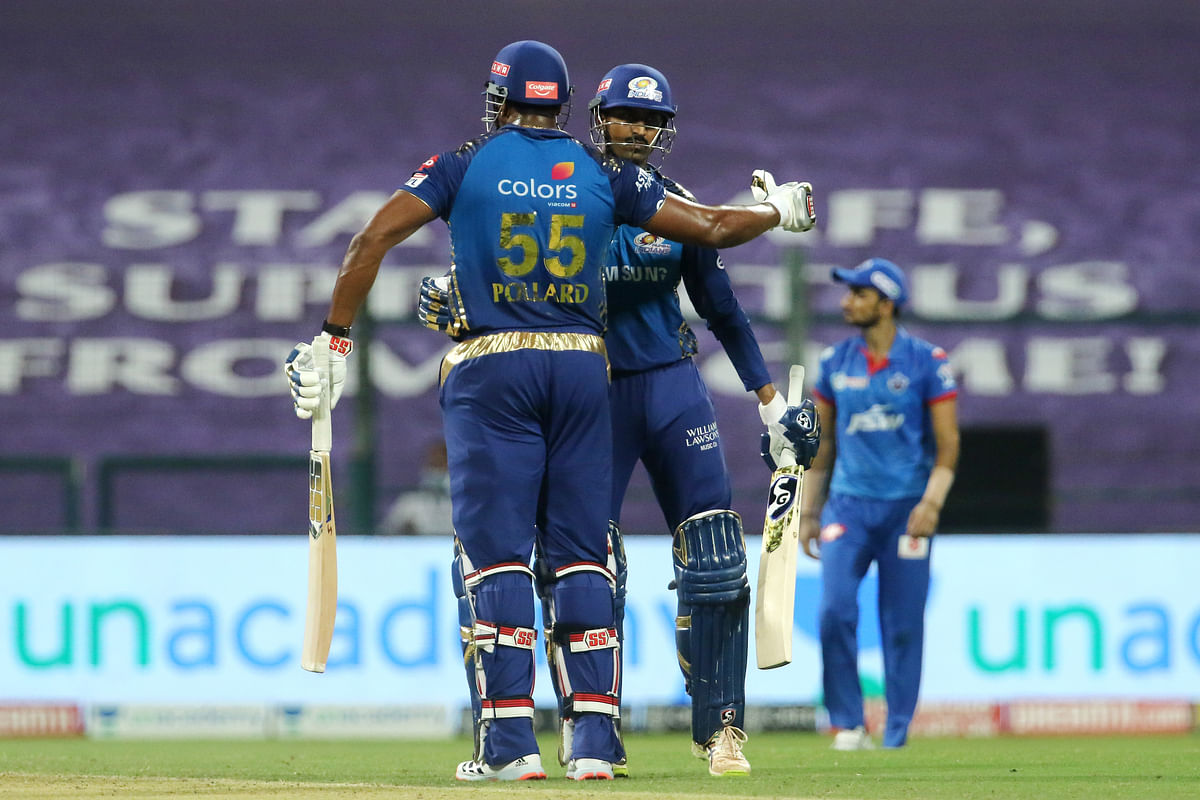 Kieron Pollard and Krunal Pandya took Mumbai Indians home as the defending champions registered their fifth win this season.