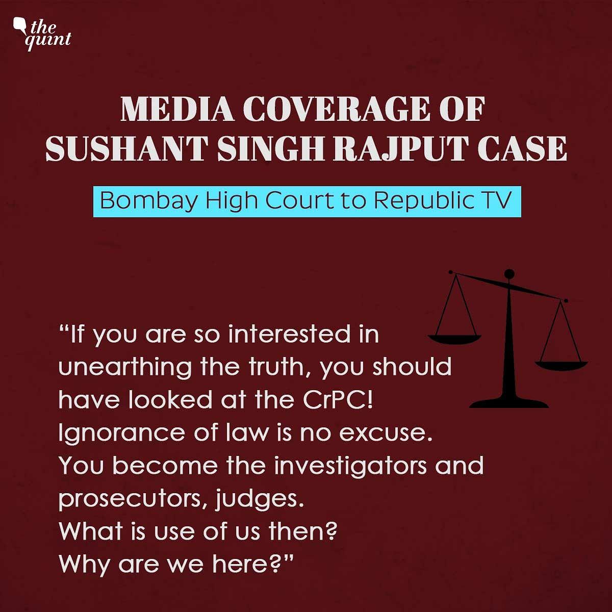 You're Not Judges or Prosecutors: HC Raps News Portals on SSR Case
