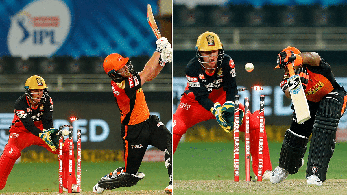 Sunrisers Hyderabad lost 32-8 after being 121-2 and slipped out for 153 against Royal Challengers Bangalore