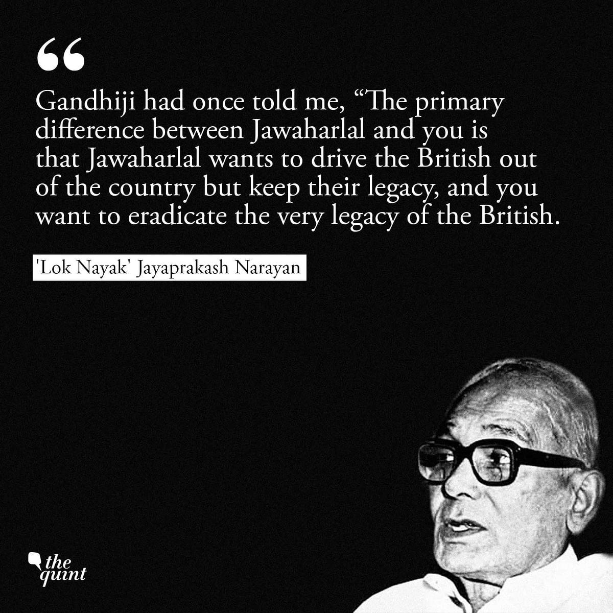 Remembering Jayaprakash: A Revolution, Indira's Fall & BJP's Birth