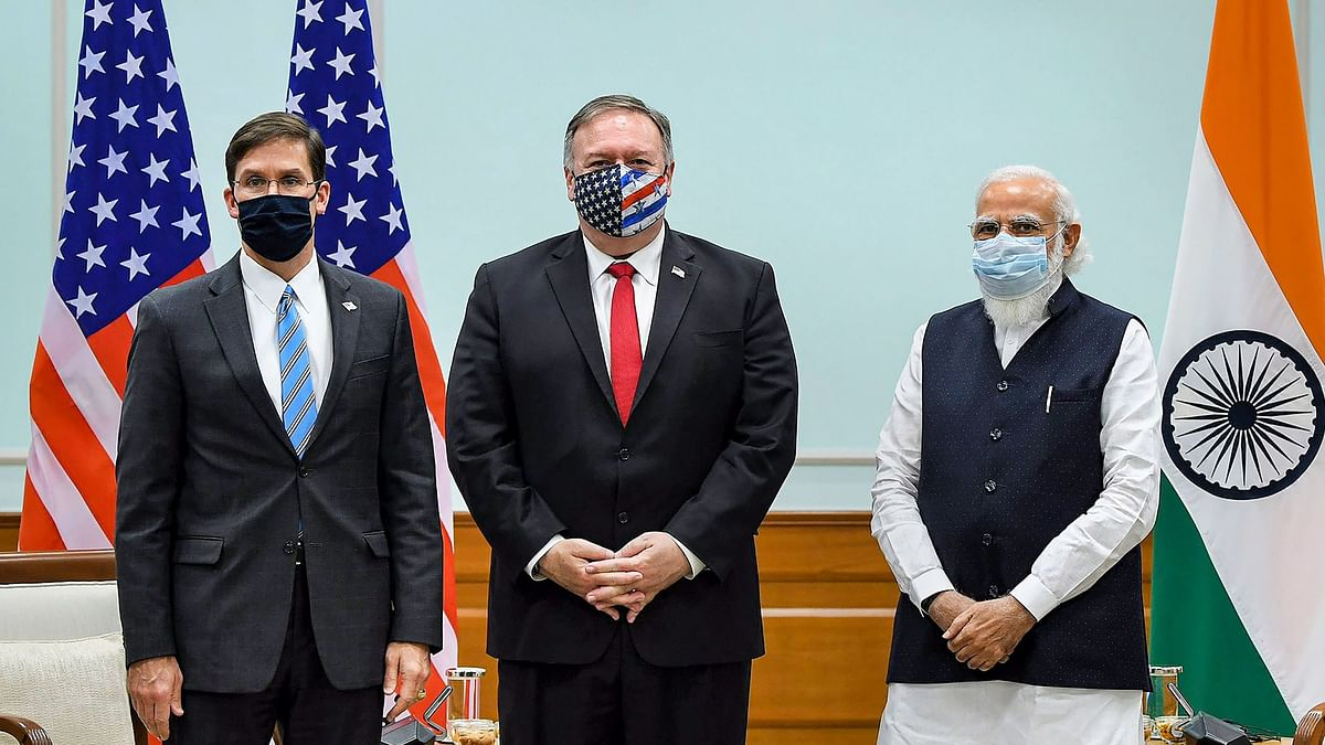 US Secretary of State Mike Pompeo and Defence Secretary Mark T Esper called on Prime Minister Narendra Modi on Tuesday.