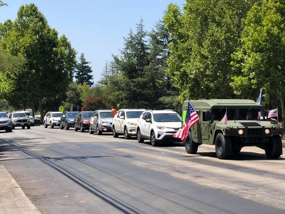 Republican group IVFT car rally in Silicon Valley.