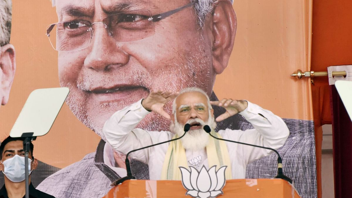 PM Modi Pitches For Nitish, Talks Galwan & Naxals in Bihar Rally