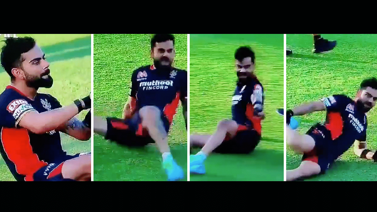 Virat Kohli's spotted dancing before the match and Twitter users go to town adding their soundtrack to his moves.