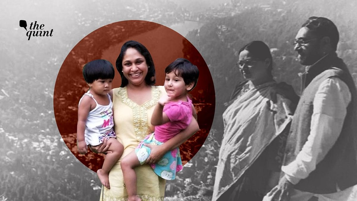 Sameena Dalwai with her two daughters and her parents.