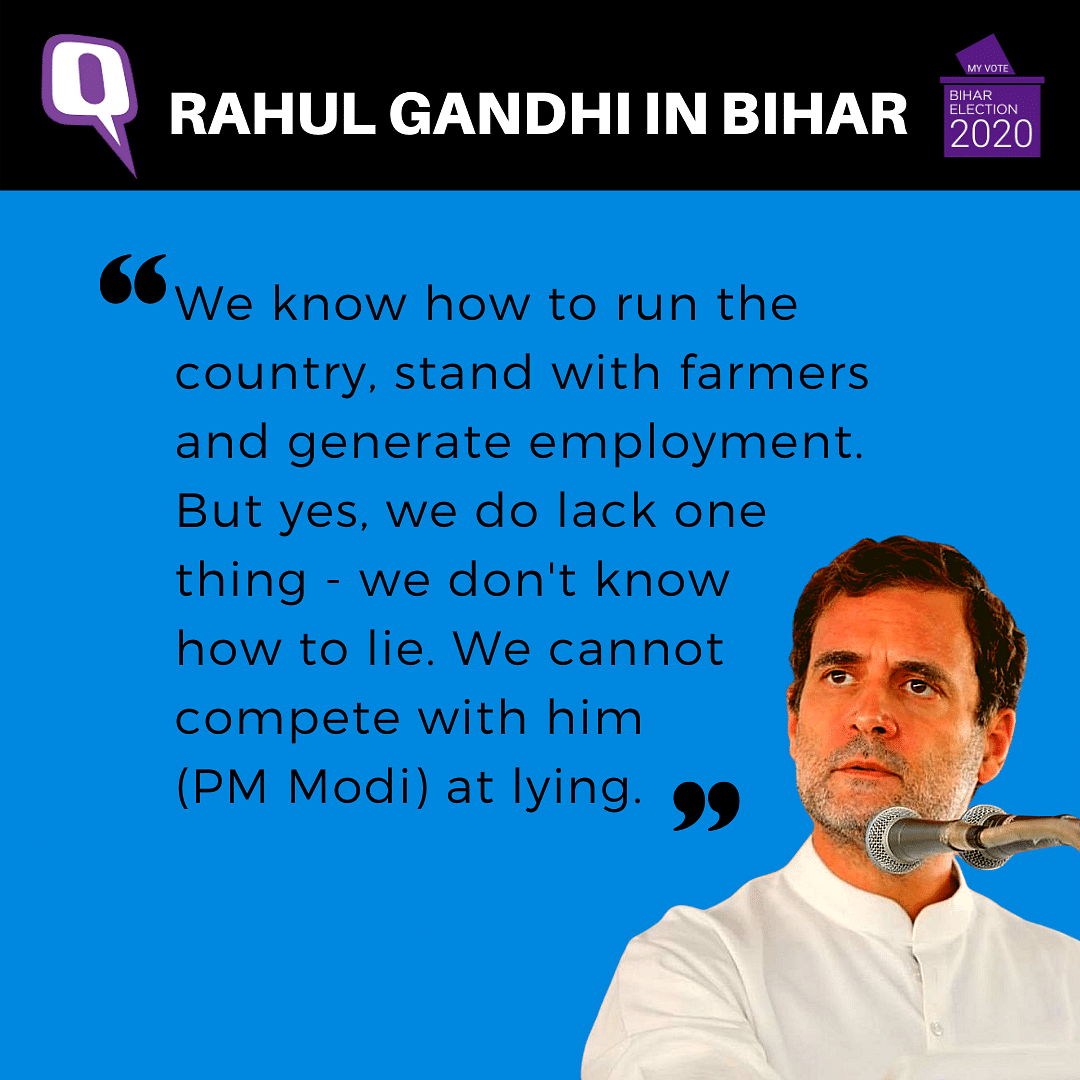 'We Can't Compete with PM Modi at Lying': Rahul in Bihar