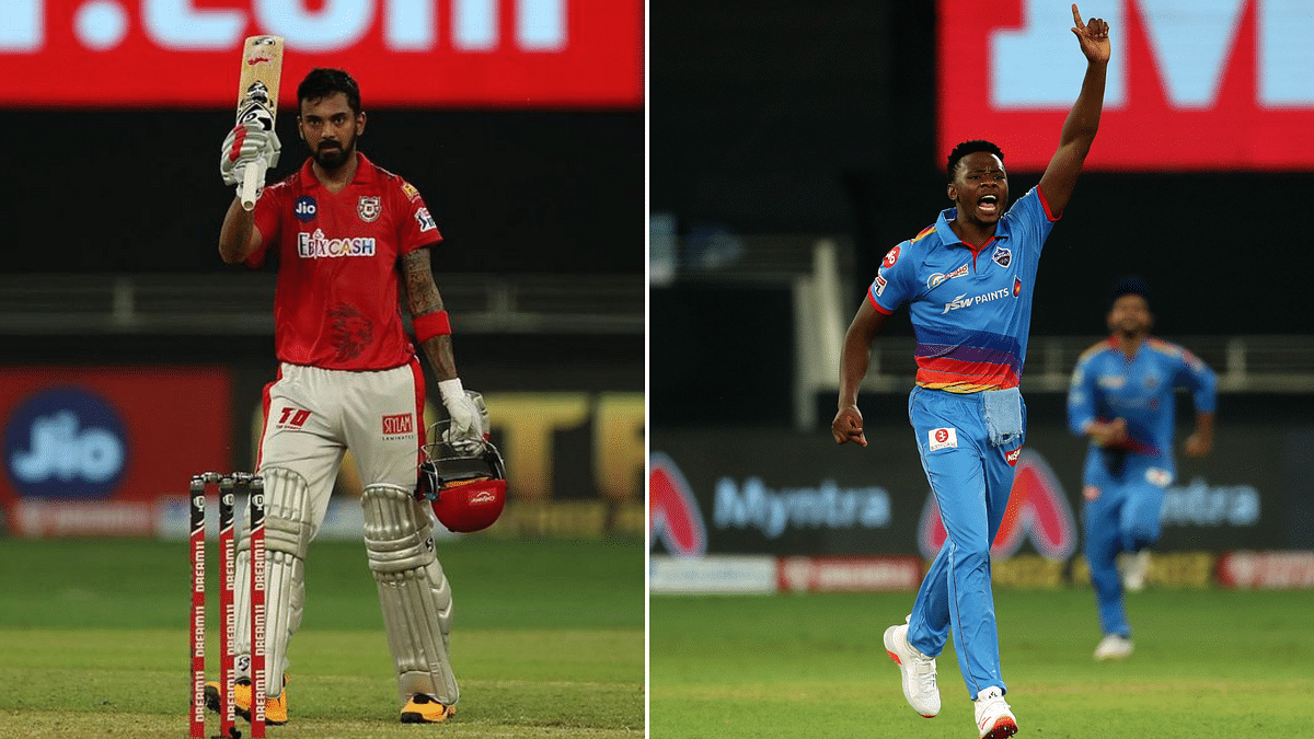KL Rahul holds the Orange Cap with 313 runs while Kagiso Rabada leads the Purple Cap race with 12 wickets