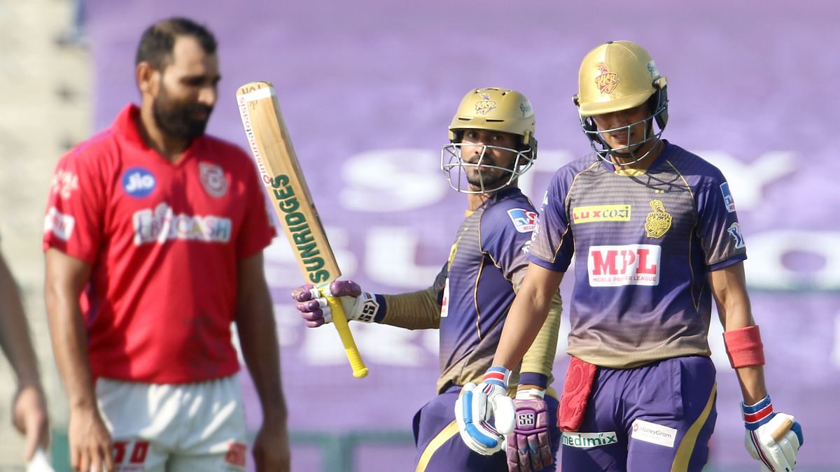 Captain Dinesh Karthik was finally among the runs, and with opener Shubman Gill, helped Kolkata Knight Riders (KKR) post 164/6 against Kings XI Punjab (KXIP).