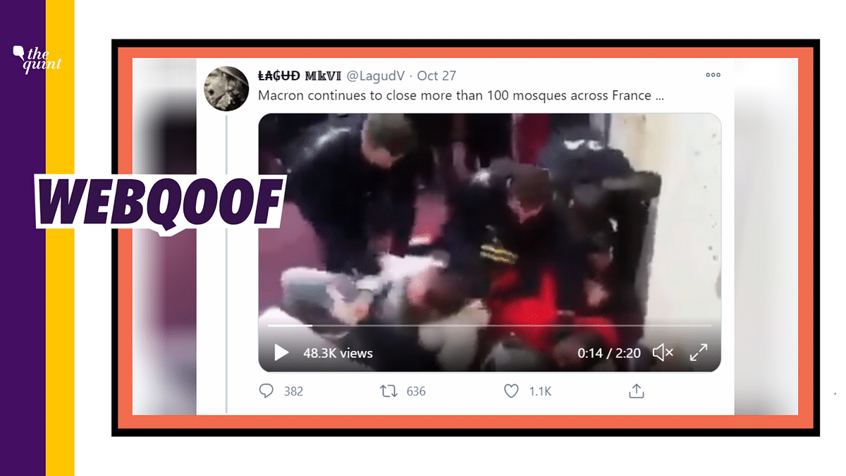 An old 2017 video of an evacuation by the French police has been revived as a recent 'attack on Muslims.'