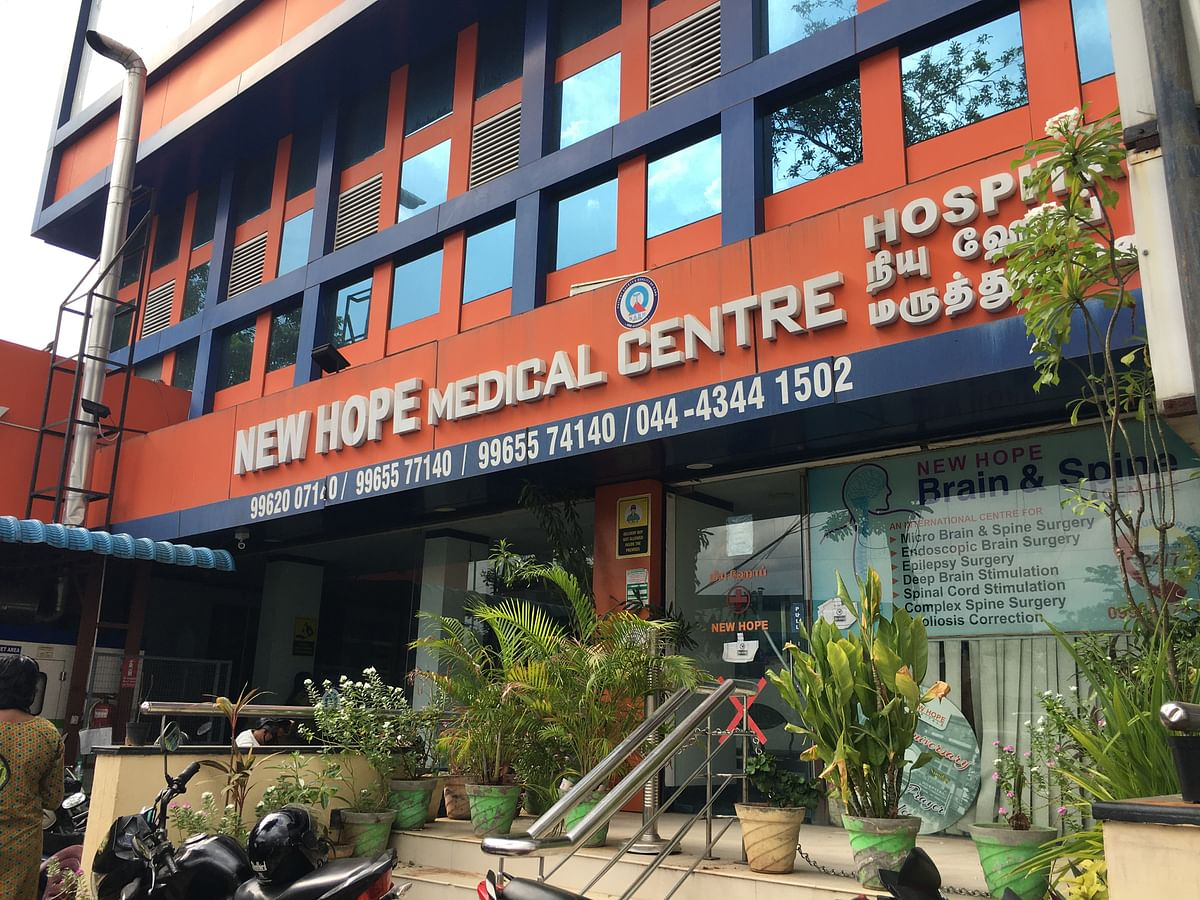 Dr Simon started the New Hope Medical Center in Kilpauk in Chennai and is a well known neurosurgeon in the city.