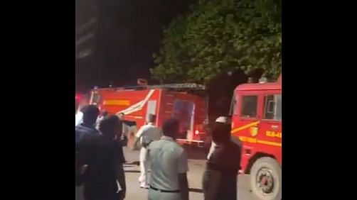 A fire broke out in an eight-storey building in Kolkata's Ganesh Chandra Avenue.