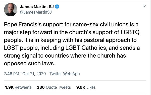 Rev. James Martin's tweet.