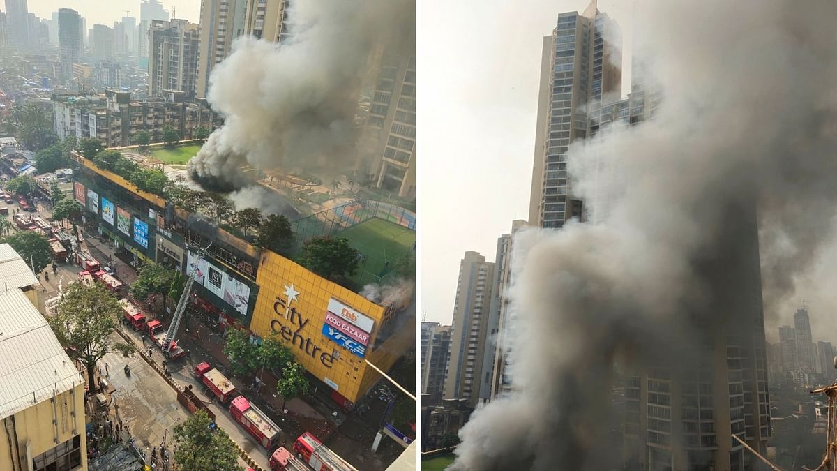 A level-5 fire broke out a mall in central Mumbai's City Centre Mall in Nagpada on Thursday, 23 October.
