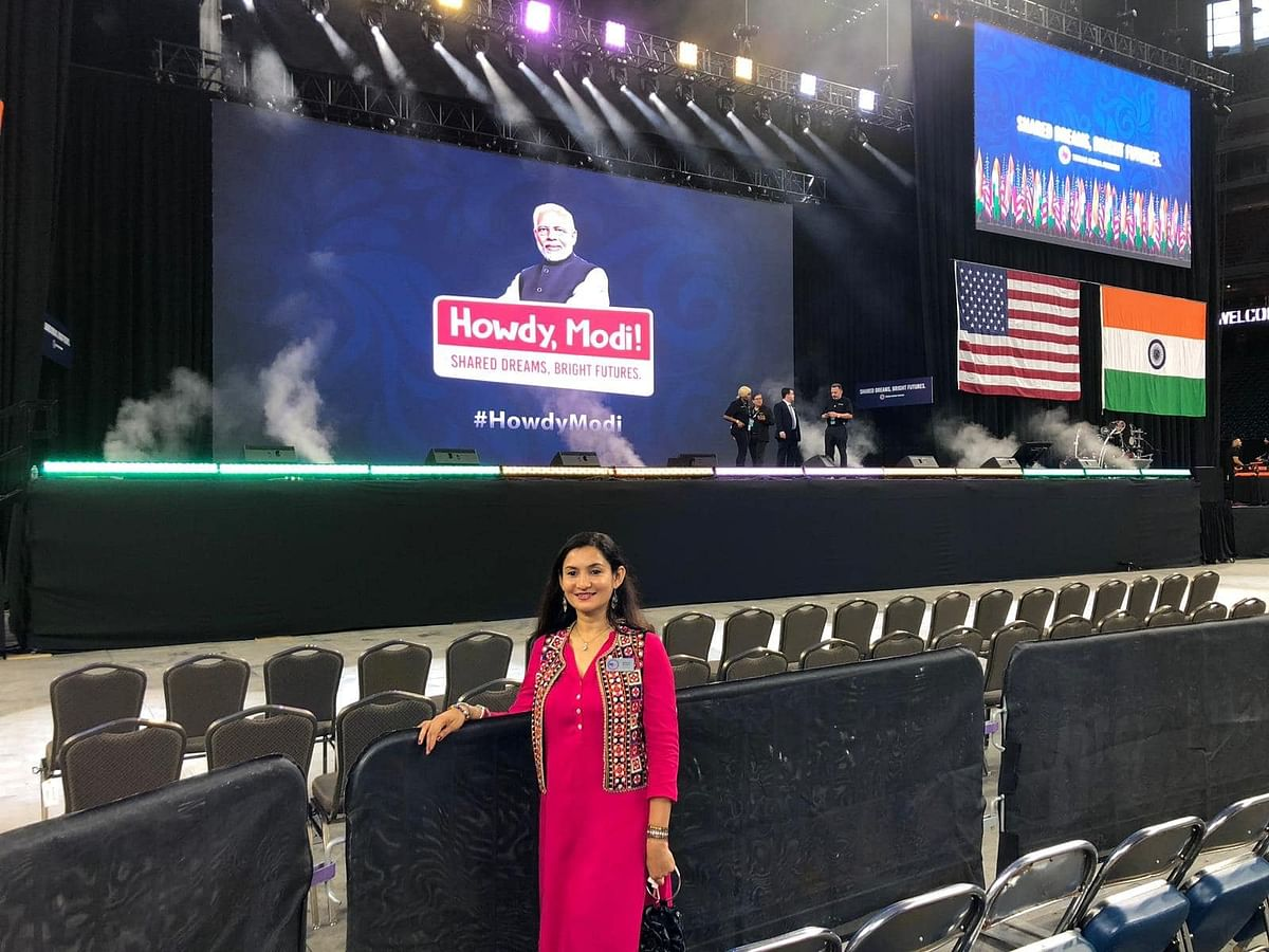 Khushboo at the Howdy Modi event.