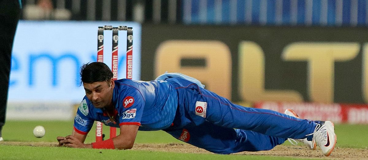 Delhi Capitals leg-spinner Amit Mishra suffered a tendon injury to his finger while attempting a catch on his follow through