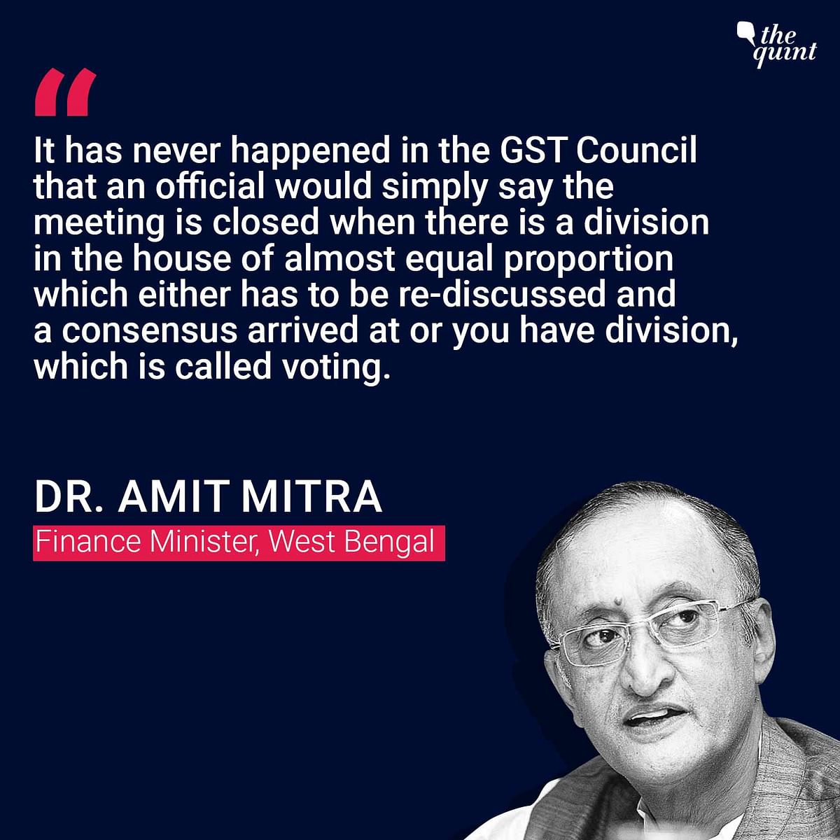 'Pushed Against Wall By Centre': Amit Mitra on GST Compensation