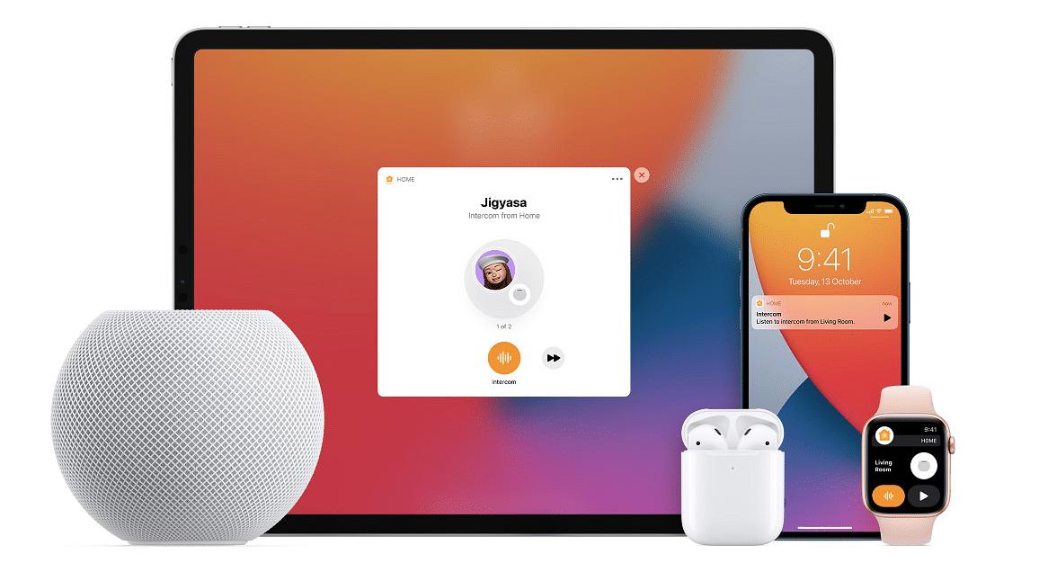 Apple HomePod mini new intercom feature.