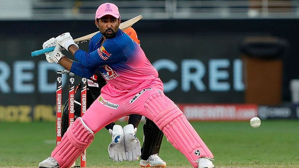 Rajasthan Royals' all-rounder Rahul Tewatia hit 45* off 28 balls to win the match for his team