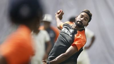 Mohammed Siraj made his Test debut in Melbourne against Australia.