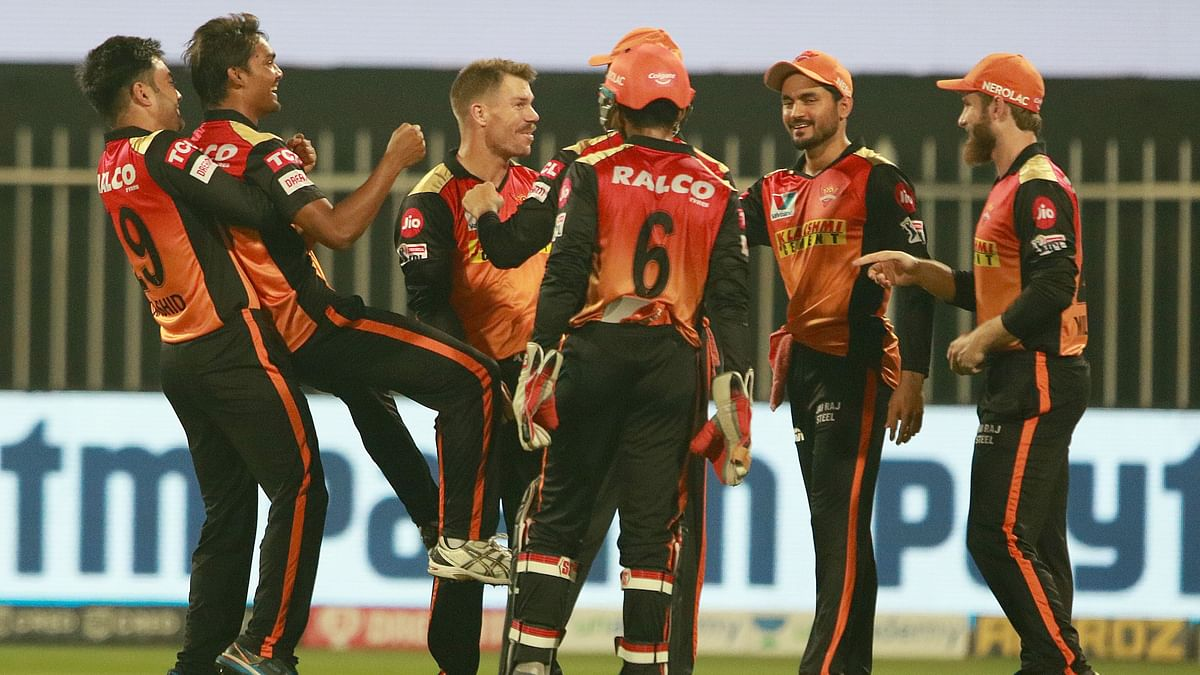SRH's bowlers have restricted RCB to 120/7 in Sharjah.