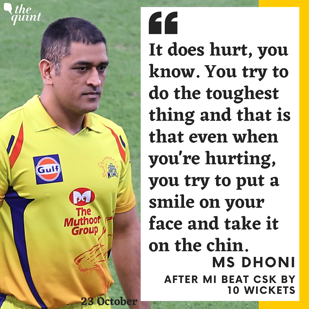 Have To Put a Smile on Your Face & Take It on the Chin: MS Dhoni