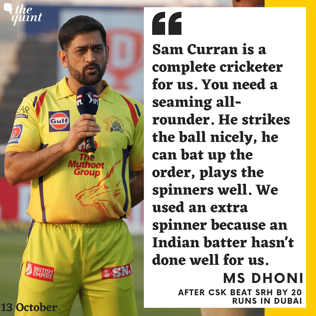 Sam Curran opened the batting for CSK along with Faf du Plessis.