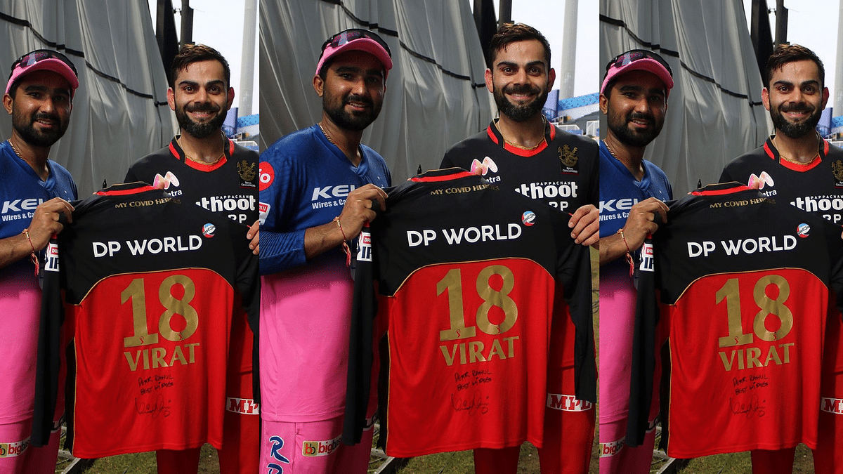 Virat Kohli gifted his signed jersey to Rahul Tewatia.