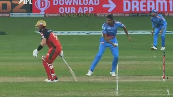 R Ashwin warned Aaron Finch for venturing out too far outside the crease.