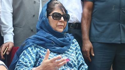 Former Jammu and Kashmir (J&K) Chief Minister and Peoples Democratic Party (PDP) leader Mehbooba Mufti.
