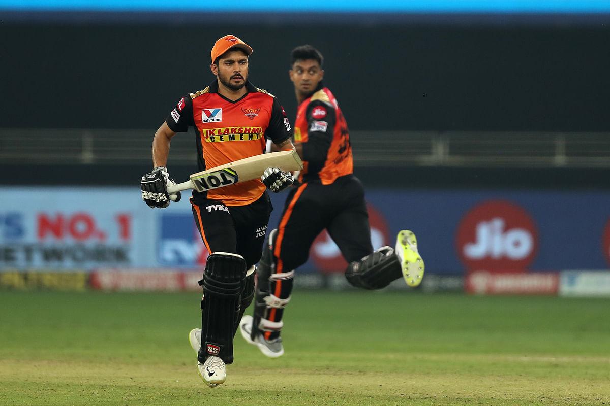 Manish Pandey and Vijay Shankar stitched an unbeaten 140-run partnership.