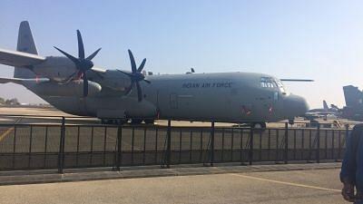 Bengaluru: A C-130J Super Hercules on display during Aero India 2019 - air show that is being held at at Yelahanka Air Force Station, in Bengaluru, on Feb 20, 2019. Image used for representational purpose.