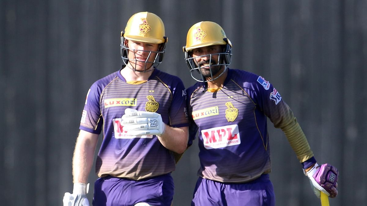 Morgan and Karthik scored 58 runs in the last five overs.