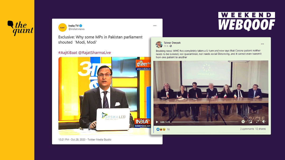WebQoof Recap: Of 'Modi Chants' in Pak & COVID-19 Misinformation