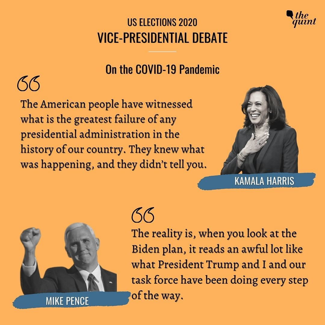 Kamala Harris, Mike Pence Clash Over COVID, Economy at VP Debate