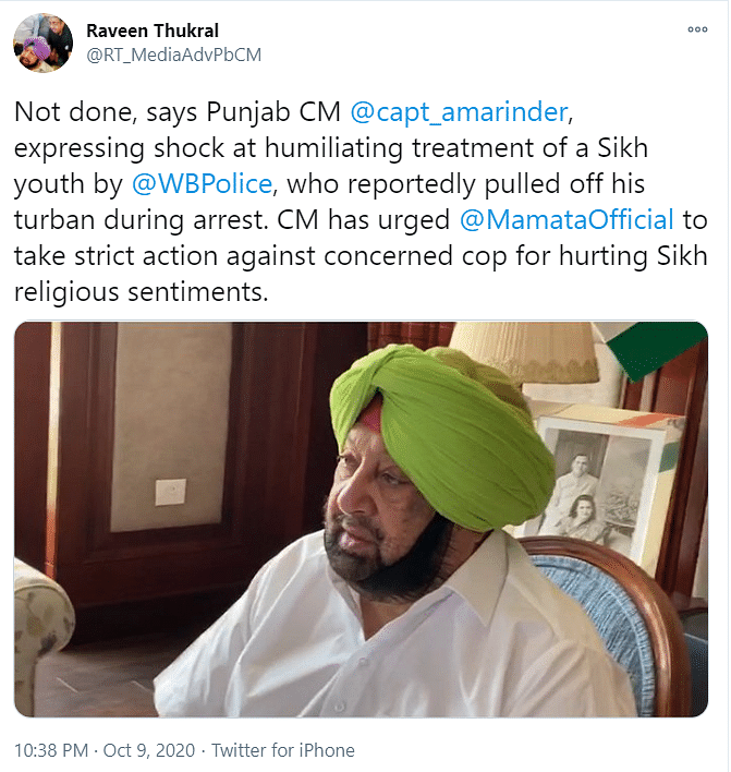 Being Given Communal Colour: WB Govt on Row Over Sikh Man's Turban