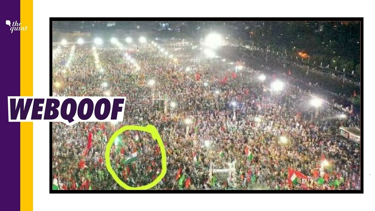 No, That's Not the Indian Flag at a Protest Rally in Pakistan