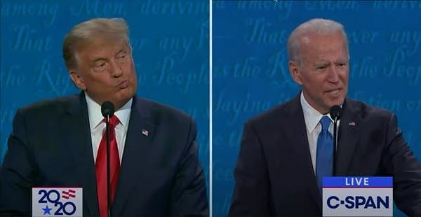 A signature Trump expression known as the 'lip funneler'.